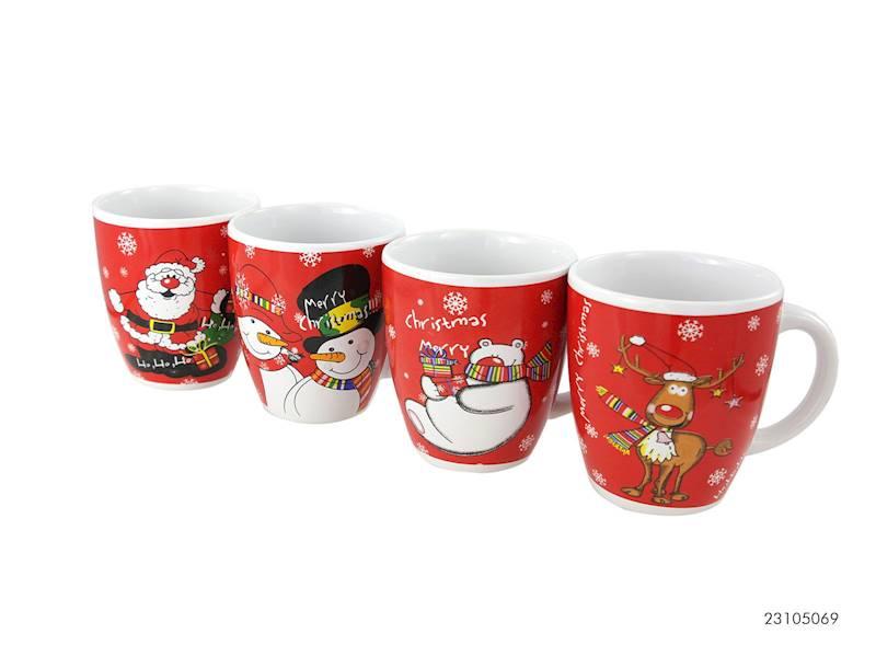 Deco zimowy kubek 230 ml / XMAS mug U shape Santa 23105069 8712442656487