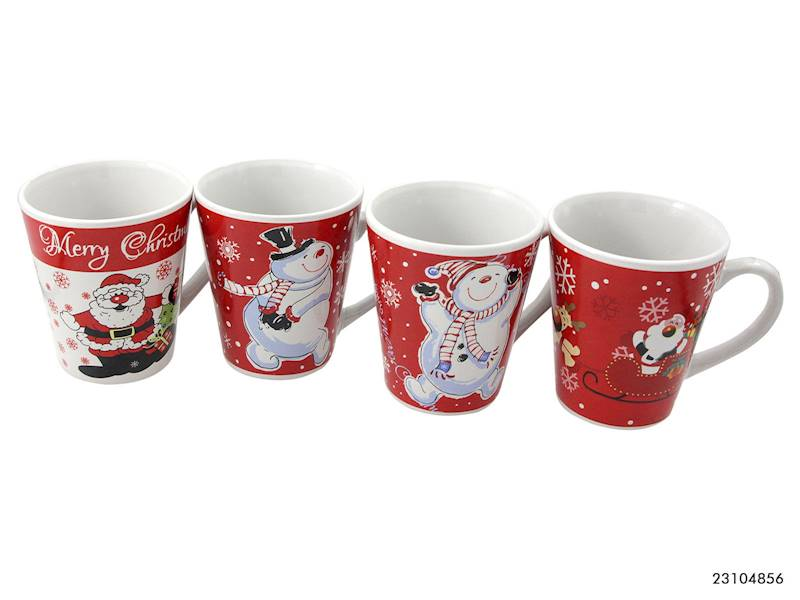Deco zimowy kubek 275 ml / XMAS mug V shape Santa/Bear 275 ml 23104856 8712442125716