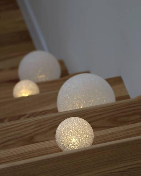 LED kula silikonowa światło białe 15 cm / LED Eva ball warm 15 cm AAA 8712442143444 / 23159239