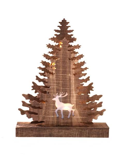 LED drewniana choinka witraż 28 cm / LED XMAS Trees warmwhite 28cm 8712442166238 / 23103582