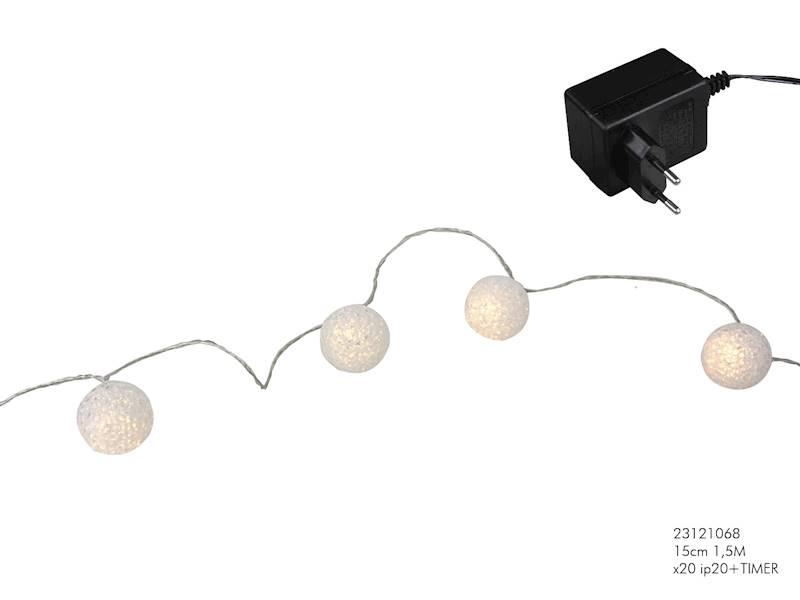 Lampki ledowe kulki silikonowe 20 diod / LED Eva 20 pcs warm timer adapter 8712442139935 / 23121068