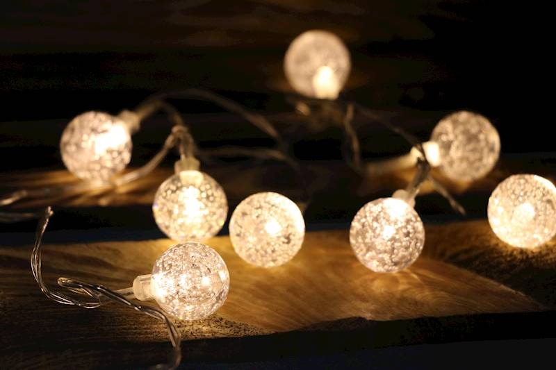 Lampki ledowe kulki akrylowe 10 diod / LED Balls Bubble 10 pcs 8712442071198 / 23120505