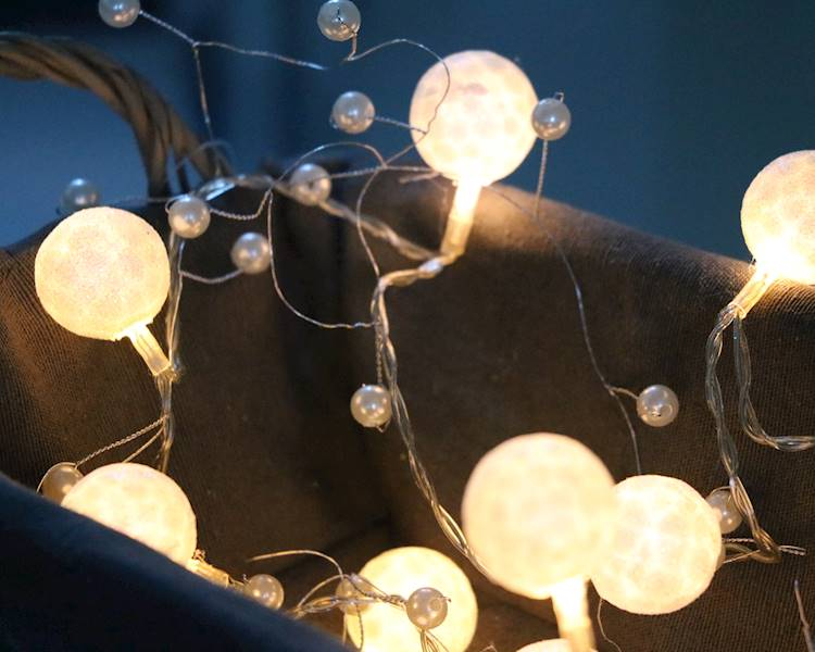 Lampki ledowe brokatowe kule 10 diod / LED Ball glitter 10 pcs 8712442118336 / 23121307