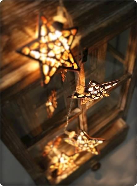 Lampki ledowe gwiazdki miedziane 10 diod / LED Star copper 10 pcs warm light 8712442136927 / 23120756