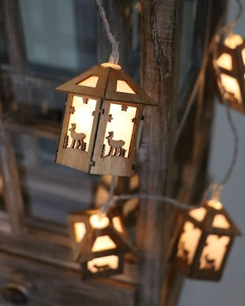 Lampki ledowe drewniane domki 10 diod / LED House wooden 10 pcs 8712442164388 / 23121286