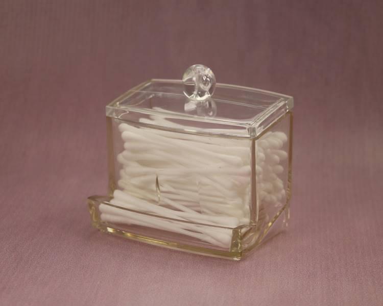 BEAUTY pojemnik plastikowy na patyczki do uszu / Bathroom Beauty Box cotton swab 9x10 cm 8712442092438 / 24530902