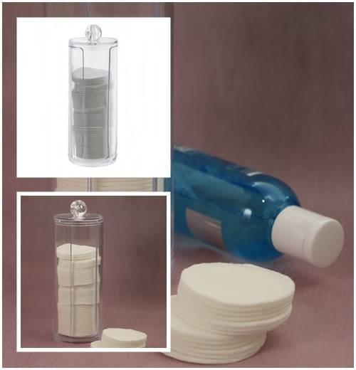 BEAUTY Pojemnik na waciki wysoki 7,5x20cm / Bathroom Beauty Box cotton pad 7,5x20 cm 8712442064695 / 24530877