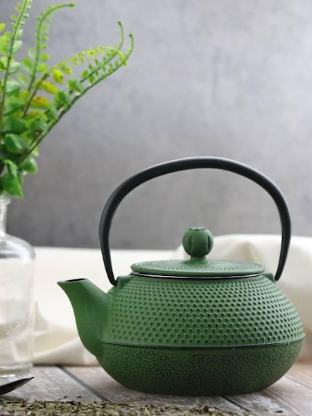 Żeliwo-żeliwny czajniczek w stylu japońskim 0,8 l  zielony / Cast iron japanese teapot 0,8L green 8712442123569 / 22170656