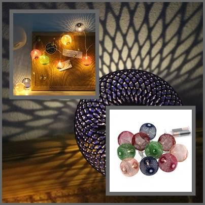Lampki ledowe koszyczki metalowe 10 szt / LED Ball mesh COLOUR 10 pcs warm light 8712442950653 / 23362386