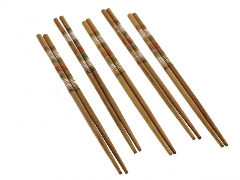 Bambusowe PAŁECZKI zestaw 5 PAR / Party bamboo chopsticks 5 pcs set 8712442114673 / 22276458