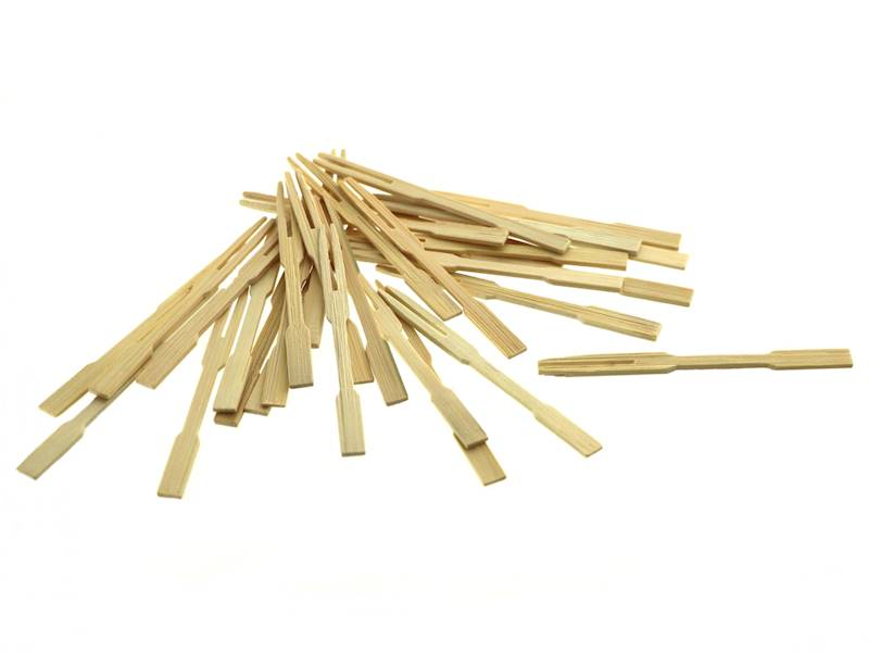 Bambusowe WIDELCE 9 cm ZESTAW 30szt / Party bamboo sticks 9 cm long 30 pcs set 8712442131717 / 22271205