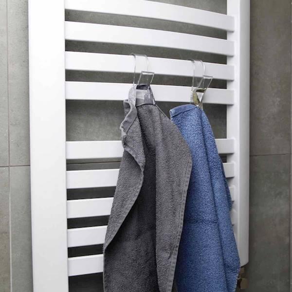 Łazienka plastikowy uchwyty na grzejnik do ręczników 2szt / Gadget Bathroom towel holder transparent 2 pcs 4038732771239
