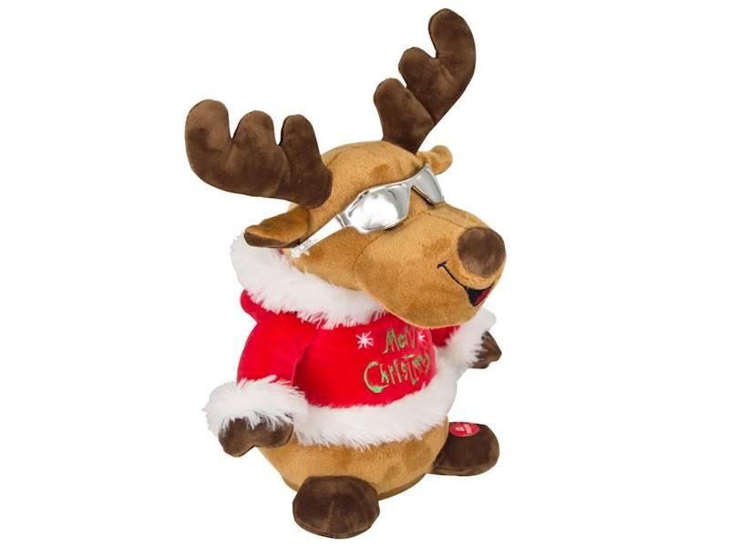 Deco zimowy interaktywny śpiewający i ruszający głową ŁOŚ / x Deco Winter Deer music head shaking 8712442161417 / 23099790