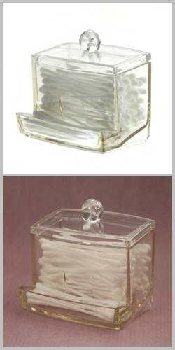 BEAUTY Pojemnik na patyczki waciki organizer 10cm / Bathroom Beauty Box cotton swab 10 cm 8592381122041 / 126535