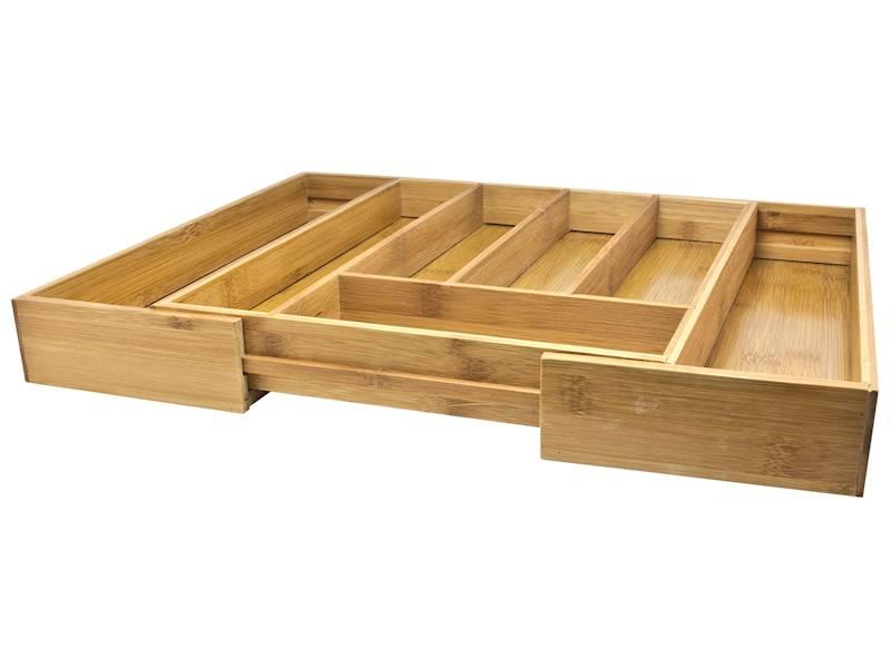 Bambusowy pojemnik wkład do szuflady na sztućce / NATURAL bamboo cuttlery tray change size 8712442985259 / 23492172