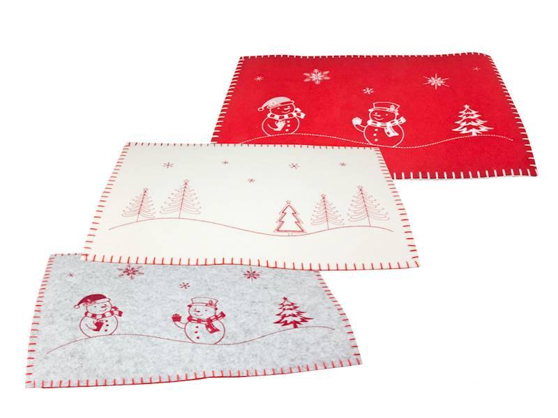 Deco zimowa filcowa mata stołowa 30x45 Merry obszyta / Deco Winter felt Merry Xmas mat 30x45 cm 8712442963080 / 23099208