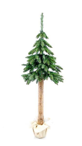 Choinka na naturalnym wysokim pniu zielona 160 cm / XMAS Tree GREEN CHOINKA ZIELONA drwala 160 cm