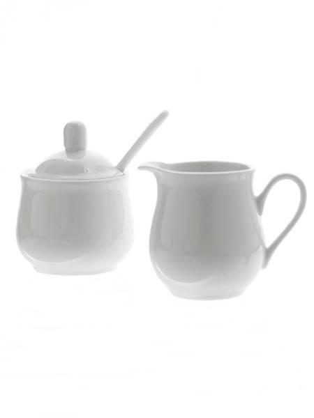 Porcelanowy zestaw cukierniczka i dzbanek do śmietanki / Porcelain sugar pot with and creamer set 8712442916840 / 24302091