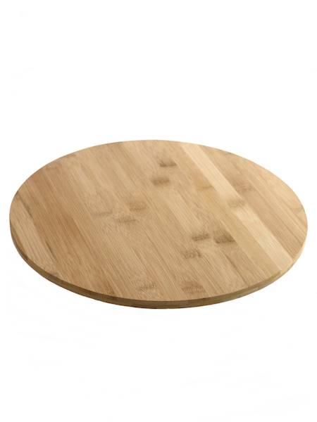 Bambusowa deska talerz 33,5 cm obrotowa / Bamboo cutting board 33,5 rotate 360 8712442962243 / 24500736