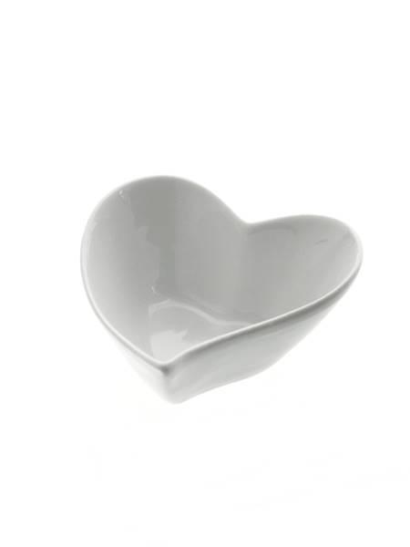 Porcelanowe SERCE miseczka 9,5x9x4,5 cm / Porcelain bowl heart 9,5x9x4,5 cm 8712442109334 / 24303402