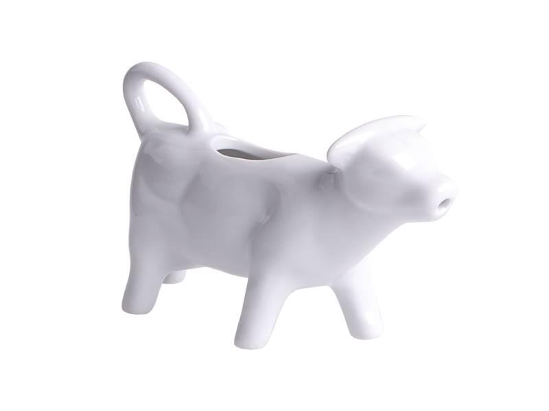 Porcelanowy mlecznik KRÓWKA dzbanek do śmietanki BIAŁY / Porcelain milk pot cow shape 14,5x5x8 8712442908906 /24301332