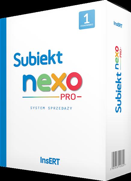 Program Insert Subiekt Nexo PRO 3st.