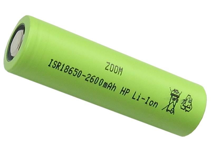 Akumulator ZOOM ISR18650HP 3,7V 2600mAh Li-ion 13A
