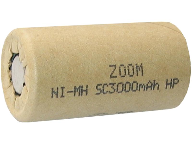 Akumulator ZOOM Sub_C 1,2V 3000mAh Ni-Mh HP  30A