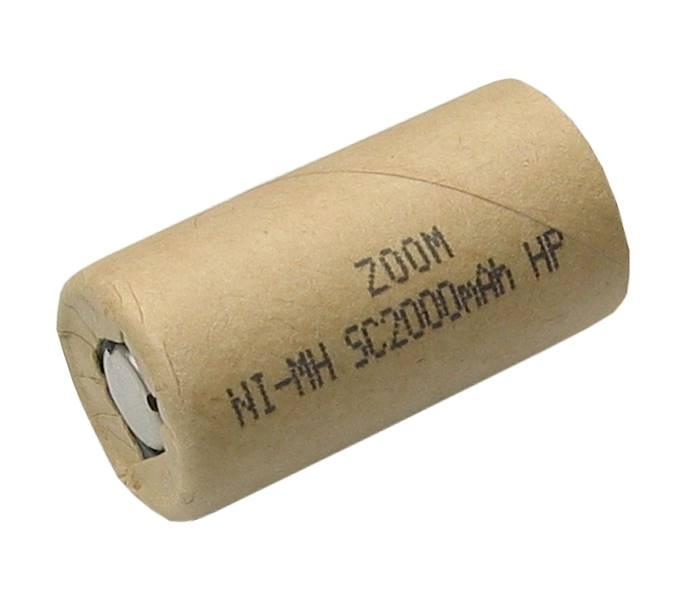 Akumulator ZOOM Sub_C 1,2V 2000mAh Ni-Mh HP  20A