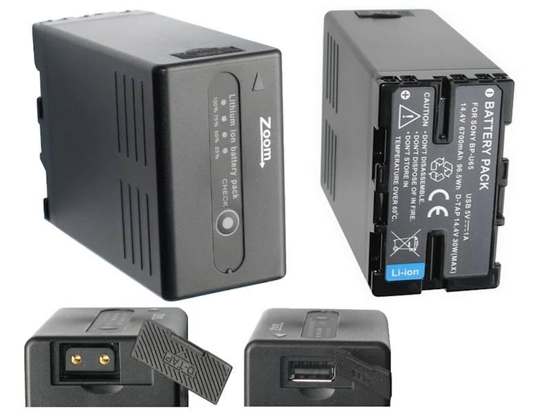 AKUMULATOR ZOOM BP-U65 6700mAh 96,5Wh DTap/USB