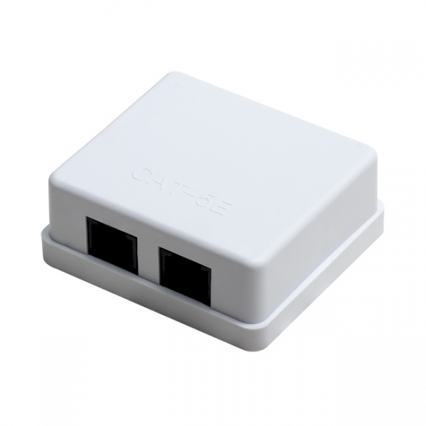 Gniazdo sieciowe kat.5E 2xRJ45 Linkbasic