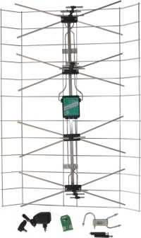 Antena siatkowa + wzmacniacz + zasilacz