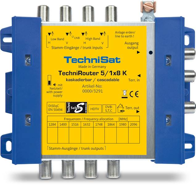 Multiswitch Unicable 5/1x8 K TechniRouter