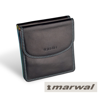 VALENTINI PORTFEL DAMSKI 01-123-420K-1 BLACK/TROPICAL