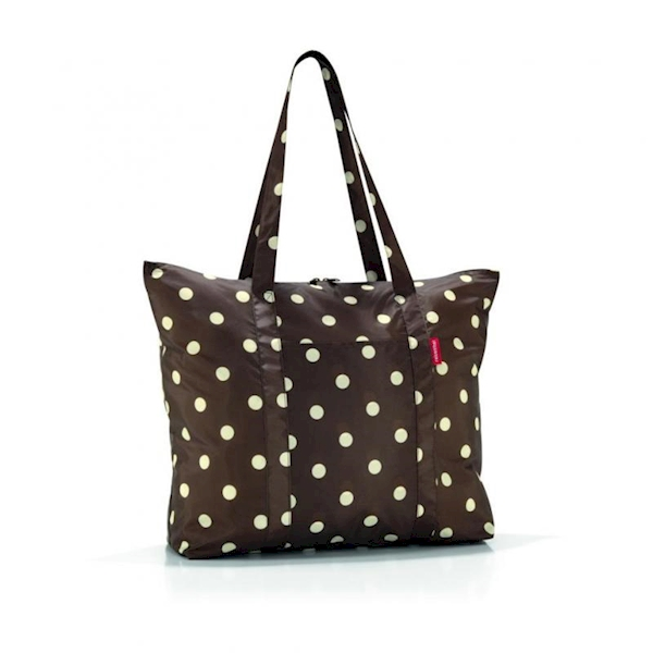 REISENTHEL TORBA RAE3014 MINI MAXI TRAVELSHOPPER RUBY DOTS BROWN