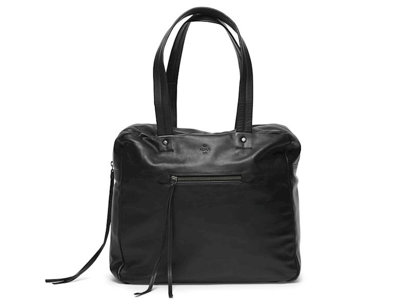 ADAX 695960 VEGA WORKING BAG TORBA SKÓRZANA  BLACK