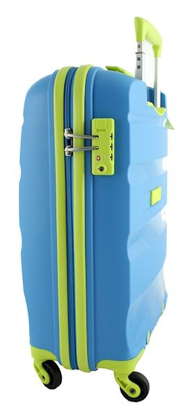 AMERICAN TOURISTER WALIZKA BON AIR  M 85A21002  BLUE/LIME LIMITOWANA EDYCJA KOLORU