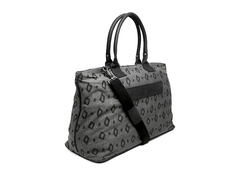 ADAX TORBA 601547 CPH CANVAS WEEKEND BAG PRINT BLACK
