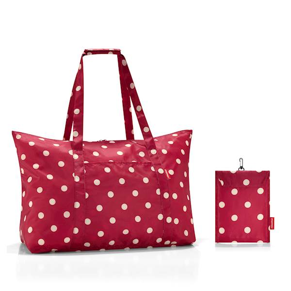 REISENTHEL RAE3014 TORBA MINI MAXI TRAVELSHOPPER RUBY DOTS  RED