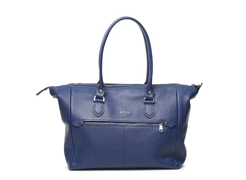 ADAX TORBA SKÓRZANA 235892 CORMORANO WOMENS BAG DENIM