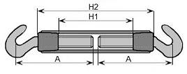 Śruba rzymska typ A ocynk.24x335 h-h