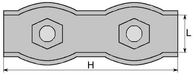zacisk linowy siodełkowy podwójny ocynkowany