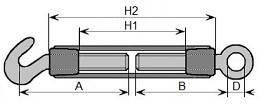 śruba rzymska (ściągacz) typ A ocynkowana oko-hak