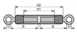 śruba rzymska (ściągacz) DIN1480 ocynkowana