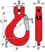 hak łańcuchowy PN-EN1677-2