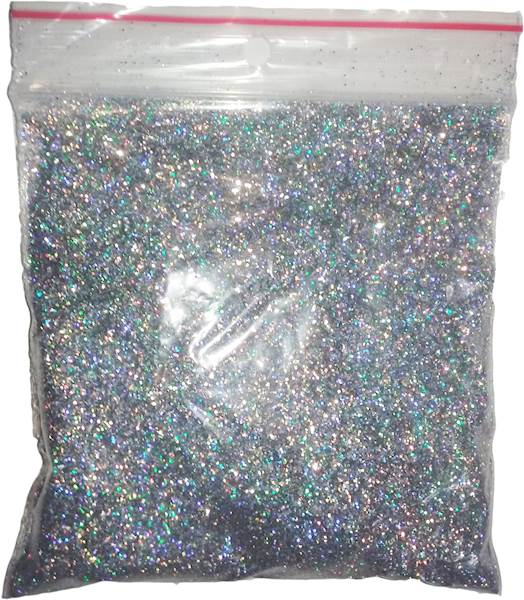 BROKAT SREBRNY HOLOGRAM 0,4MM  50 G #