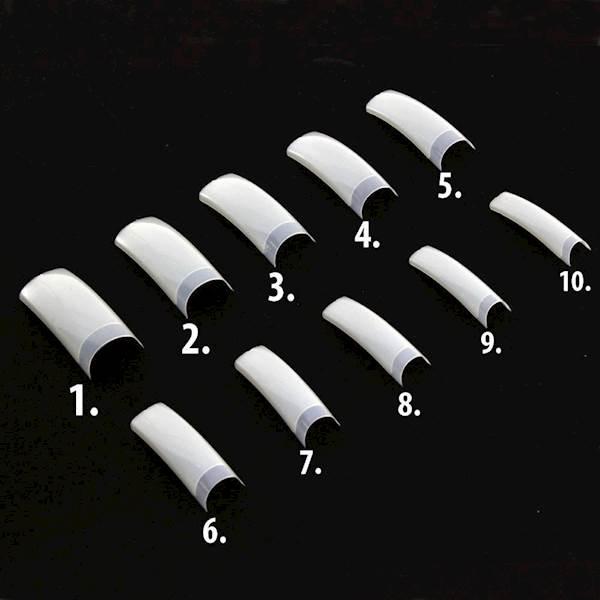 Tipsy uzup.białe B/K 60 szt