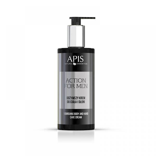 APIS action for men odżywczy krem  do ciała i dło