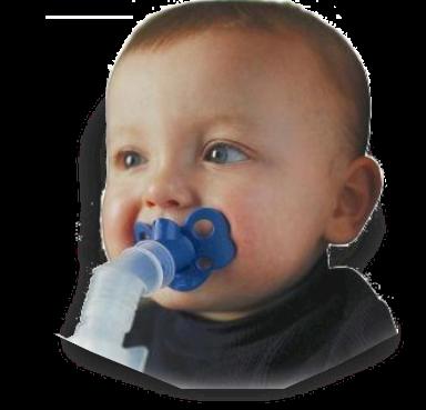 Smoczek inhalujący do inhalatora