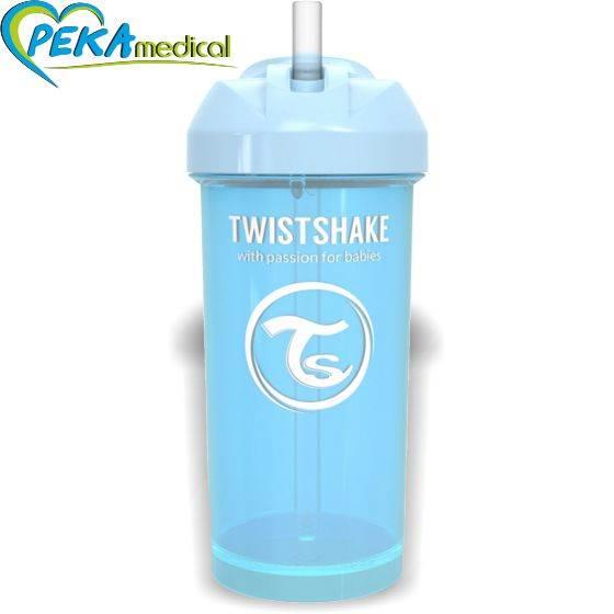 Twistshake Kubek niekapek ze słomką 360 ml niebieski